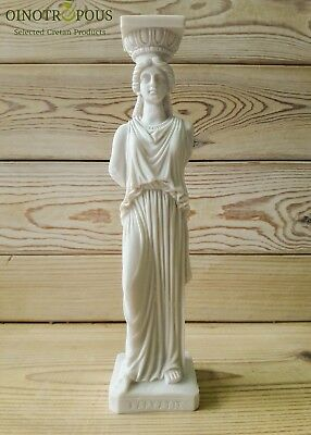 Caryatid - Greek Female figure, Erechtheion, Acropolis at Athens, Column -9.84in