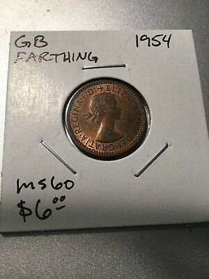 Great Britain 1954 Farthing World Coin