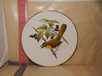 Avon Plate , Don Eckleberry Birds - Yellow Breasted Chat , For Avon Reps