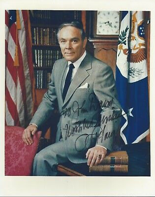 Alexander Haig Secretary Of State 8X10 Color Photo Signed General