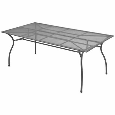 vidaXL Outdoor Dining Table Steel Mesh 180x90x72 cm Furniture Garden Indoor