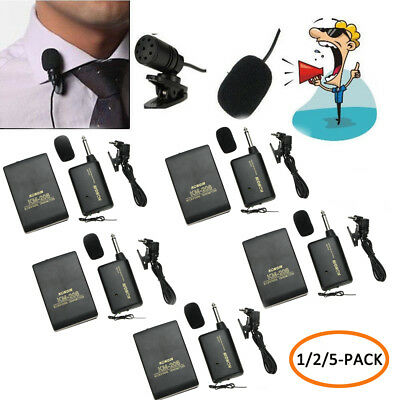 5PCS Wireless Lapel Clip-On Microphone Transmitter and Receiver & Camcorder Set