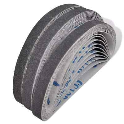 30 x Mixed Power Tool Sander Airpress Sanding Belts 10mm x 330mm 60 80 120 Grit