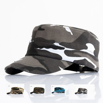 d1dd11f5305 Army Camo Hat Baseball Cap Cotton Field Adjustable cadet military  Camouflage UK