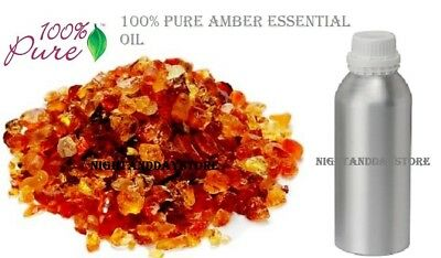 Amber Essential Oil Pure Natural Organic Therapeutic Aromatherapy 10 ml -100 ml
