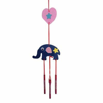 Kids DIY Handcraft Wind Chime Lovely Animals Pendant Educational Puzzle Toy C