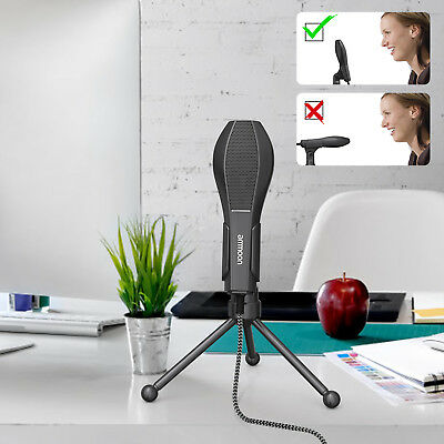 PC Studio Pro Condenser Microphone Recording Broadcasting MIC with Stand K1B4