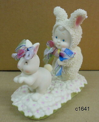 Dept 56 Snowbunnies - Double Bunny Hop Easter Figurine - New In Box