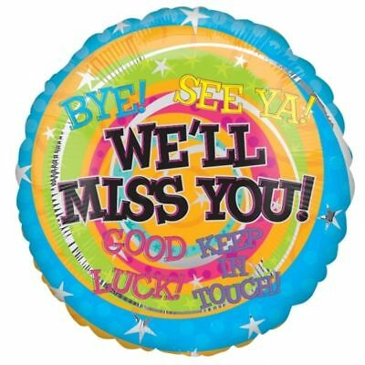 Leaving Your Job Foil Balloon - We'll Miss You Good Luck Party Decoration 17964