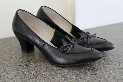 VTG 1940s Womens Pumps Shoes VLV Swing Era RockABilly Wms Sz 8