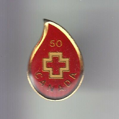Rare Pins Pin's .. Ong Medecine Medical Croix Rouge Canada Don 50 Dollars ~Dh