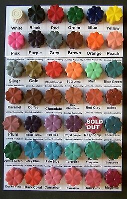 12 Dyes for candle making .....dye up to 12 kilos of wax..pick your own colours!