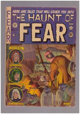 Haunt of Fear # 11  Classic Ghastly Burial Cover !  grade 4.0 scarce EC book !