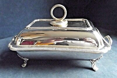 """SUPERB Large 11"""" ~ SILVER Plated ~ SERVING DISH on STAND ~ c1900 by Elkington"""