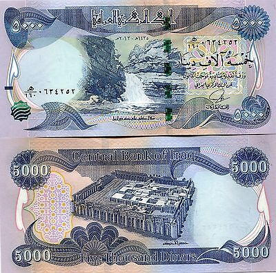 100 000 New Iraqi Dinars 2014 (2013) with New Security Features - 20 x 5 000 UNC