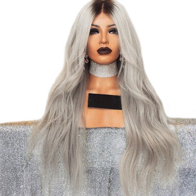 Women Girl Wig Straight Long Slight Curl Hair Cosplay Synthetic Heat Resistant
