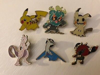 Pokemon Pin / Anstecker (Marshadow,Mewtu,Latios,Pikachu,Mimigma,Zoroark)