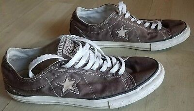 Converse ONE STAR - Brown Canvas Low Top Sneaker Shoe Men's Size 9.5 US