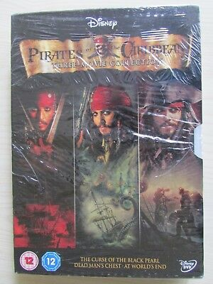 Pirates Of The Caribbean Trilogy (Dvd 3-Disc Box Set) NEW/SEALED.