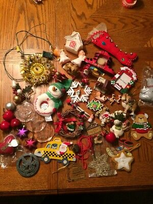 Large Lot Vintage Kitschy Christmas Ornaments Decor Ugly Sweater