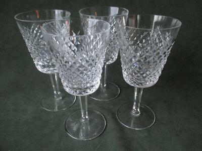 """4 Waterford Crystal """"alana"""" Water Glasses - 1"""