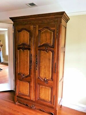 Milling Road Collection by Baker Furniture Cherry wood Linen Wardrobe armoire