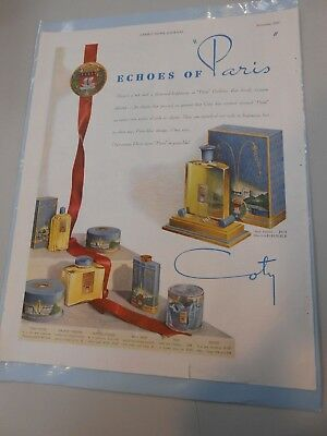 "*VINTAGE* Ladies' Home Journal- Coty ( Perfume Ad) "" Echoes Of Paris"". SO COOL!"
