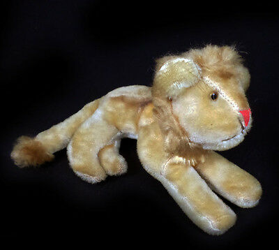 """Vintage Jay Bee Joseph Boxer Small 8"""" Mohair Lion Glass Eyes"""