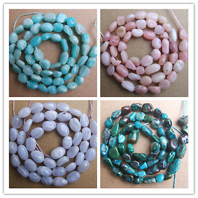 """6x7mm-8x10mm Natural Stones Freeform Loose Beads 15.5"""""""