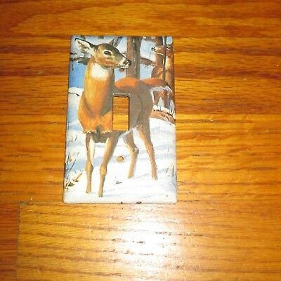 Female Doe WHITETAIL DEER WILD GAME LIGHT SWITCH COVER PLATE A
