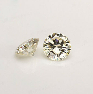 Loose Moissanite 1 ct to 2 Carat Fancy Yellow Round Cut VVS,Best for Jewelry