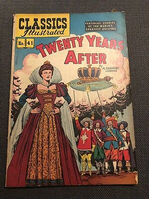 Classics Illustrated #41 Twenty Years After - Golden Age