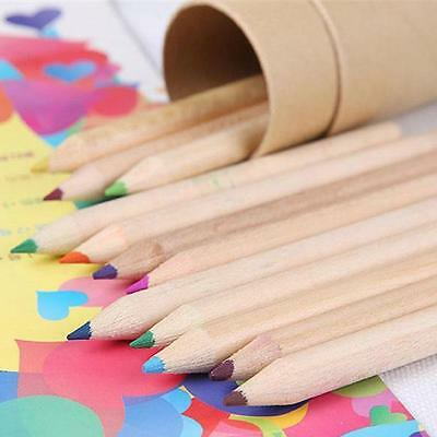 Colored Pencil Durable Innoxious 12 Color Set for Kids With Pencil Sharpener ☪W