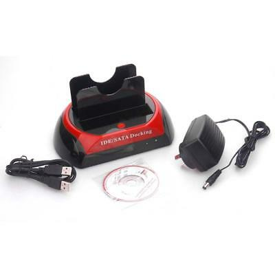 """Dual 2.5""""/3.5"""" Ide Sata Hdd Hard Drive Disk Dock Docking Station All In 1 Usb Zz"""