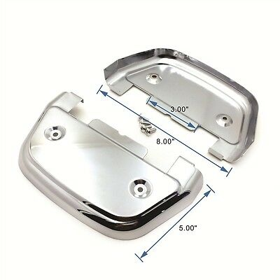 No Logo Chrome Passenger Footrest Footboard Cover Kit For Harley Touring