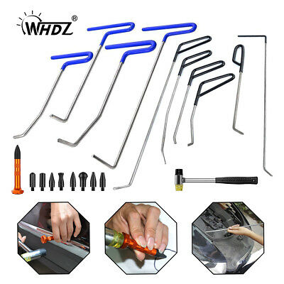 10x PDR RODS Paintless Dent Repair Auto Body Tools Tap Down hammer Tools Kit AU