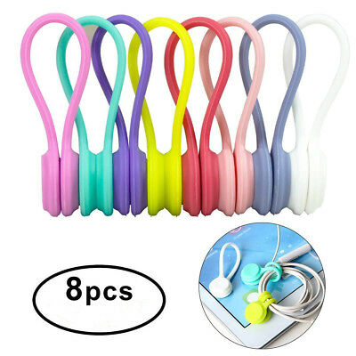 8Pcs Portable Magnetic Cable Clips Cable Holder Cord Wire Management Cable Clip