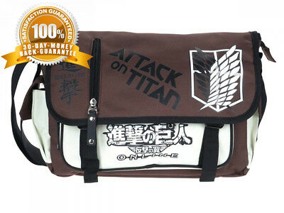 CoolChange Attack on Titan messanger bag brown//white