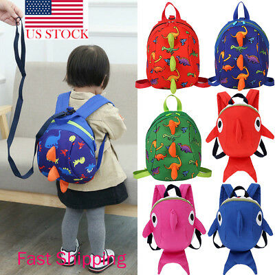 US Baby Kid Toddler Walking Safety Harness Strap Antilost Leash Cartoon Backpack