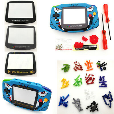 Glass Lens Full Housing Shell Case for Nintendo Game Boy Advance GBA Console