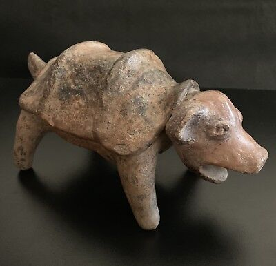 Pre-Columbian Colima Dog with a saddle, Covered with Manganese Spots 200BC-200AD