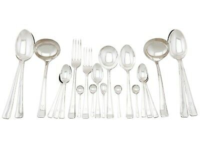 Vintage Sterling Silver Canteen of Cutlery for Twelve Persons Sheffield 1947