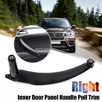 Right Inner Door Panel Handle Pull Trim Cover For BMW E70 X5 51416969402 Black