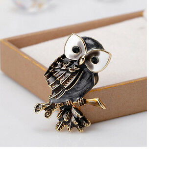 Lovely Owl And Elephant Brooch Animal Collar Badge Jewelry Pin Accessories Z