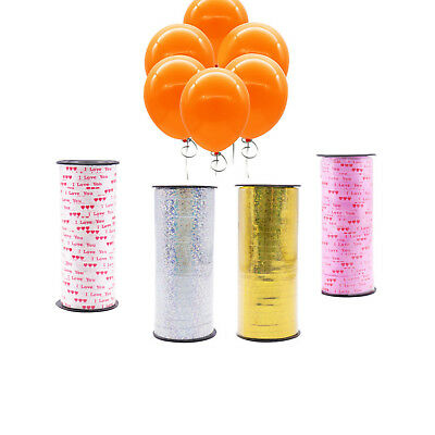 1 Roll 100 Yards Balloon Curling Ribbon for Birthday Wedding Gift Wrapping Decor