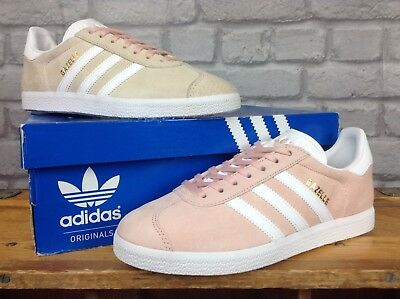 hot sale online 0be33 7f632 Adidas Pale Pink Gazelle Og Trainers Mens Ladies Re Dye Various Sizes
