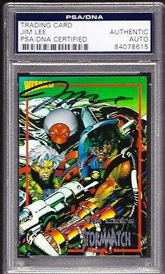 Jim Lee AUTO 1993 WIZARD Storm Watch #4 PSA/DNA