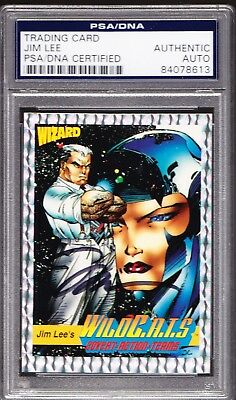 Jim Lee AUTO 1992 WIZARD Wild CATS #7 PSA/DNA