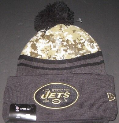sports shoes c2cfc ae375 New Era New York JETS Beanie New With Tags NFL Fan Apparel Salute To Service
