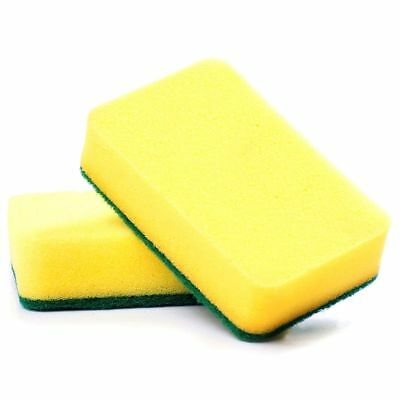 4X(Kitchen sponge scratch free, great cleaning scourer (included pack of 10) O5